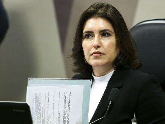 A presidente da comissão de constituição e justiça do Senado, Simone Tebet.